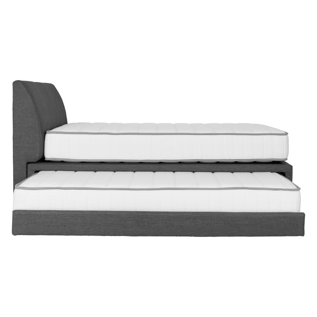 ESSENTIALS Single Trundle Bed - Smoke (Fabric) - 17
