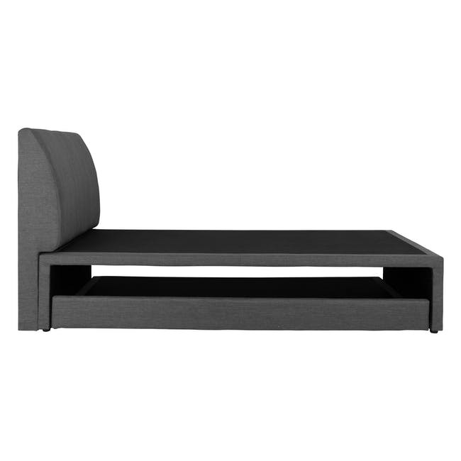 ESSENTIALS Single Trundle Bed - Smoke (Fabric) - 7