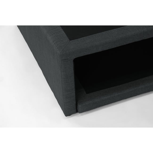 ESSENTIALS Super Single Trundle Bed - Smoke (Fabric) - 12