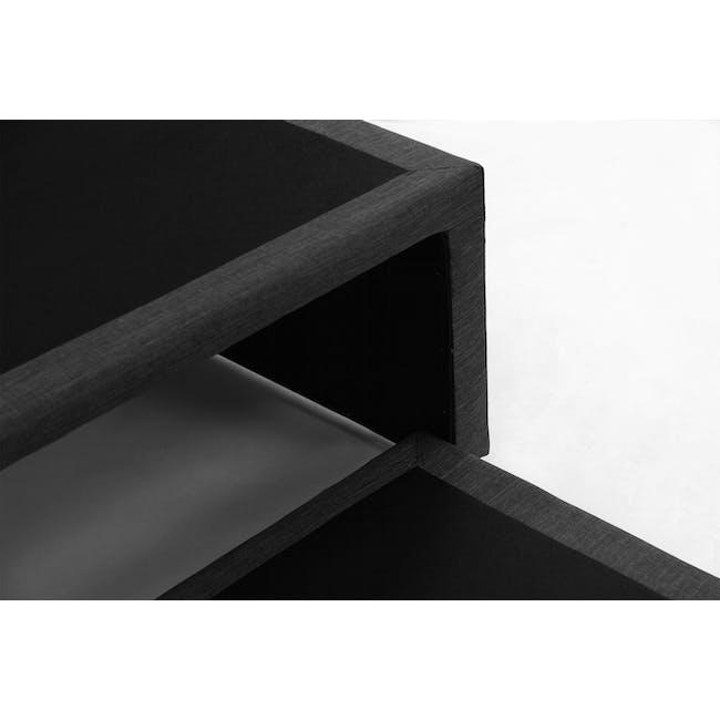 ESSENTIALS Super Single Trundle Bed - Smoke (Fabric) - 13