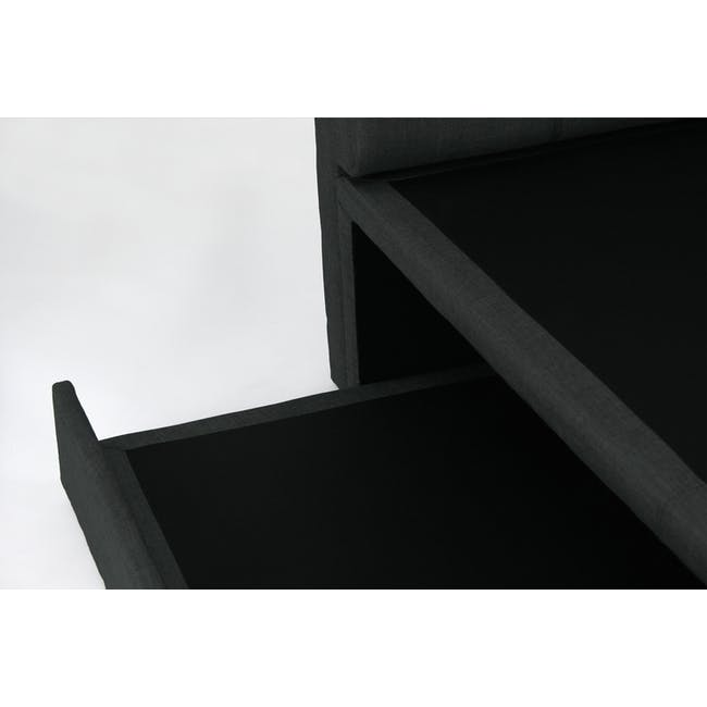 ESSENTIALS Super Single Trundle Bed - Smoke (Fabric) - 14
