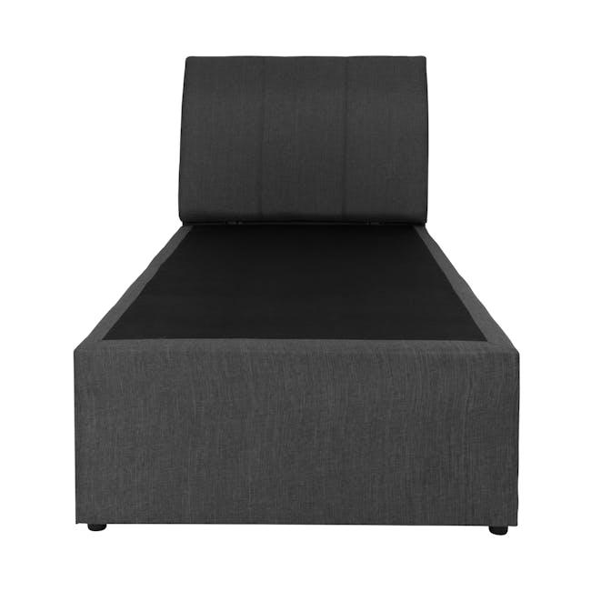 ESSENTIALS Super Single Trundle Bed - Smoke (Fabric) - 1