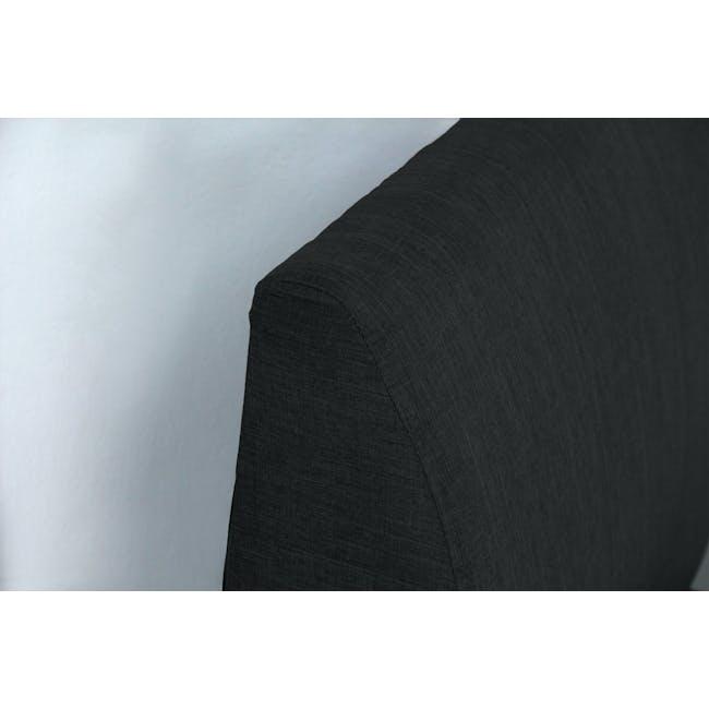 ESSENTIALS Super Single Trundle Bed - Smoke (Fabric) - 9