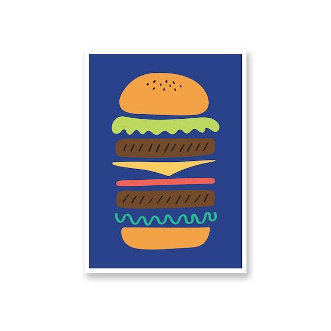 Borderless Graphic Art Print on Paper (2 Sizes) - Burger - 0