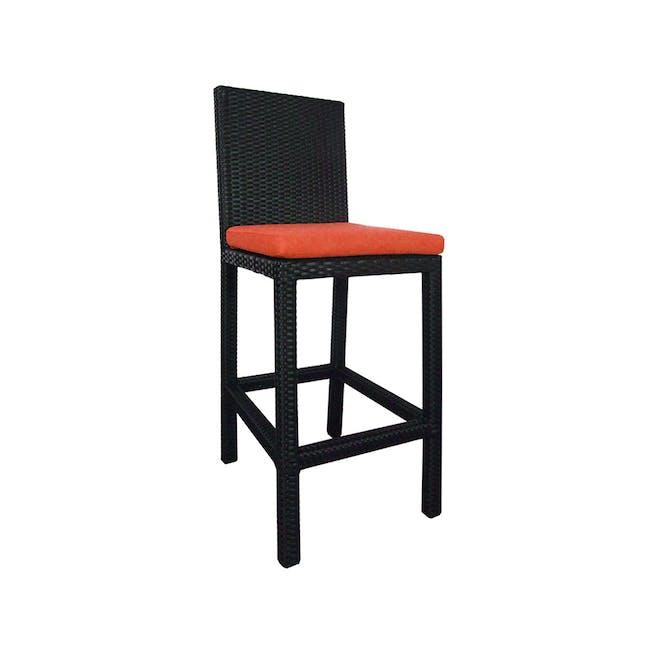 Midas 4 Chair Bar Set - Orange Cushion - 2