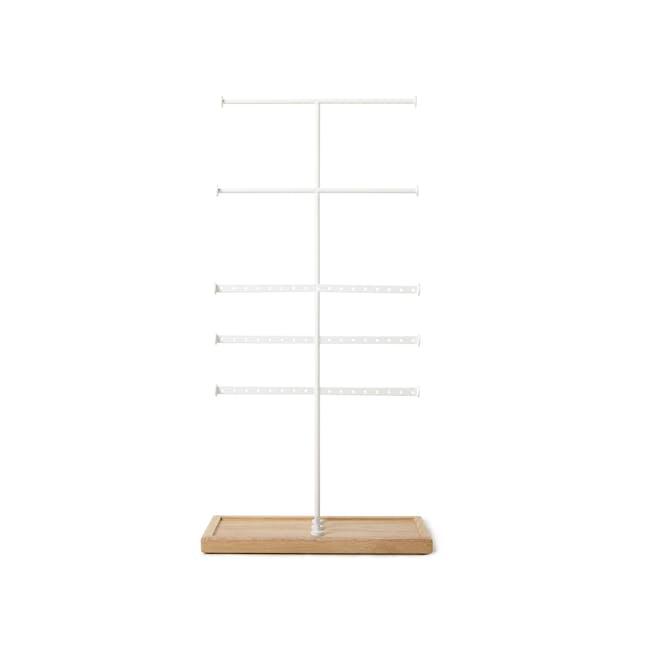Trigem 5 Bar Jewelry Stand - White, Natural - 2