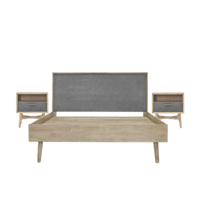 Hendrix King Bed with 2 Hendrix Bedside Tables - Image 1