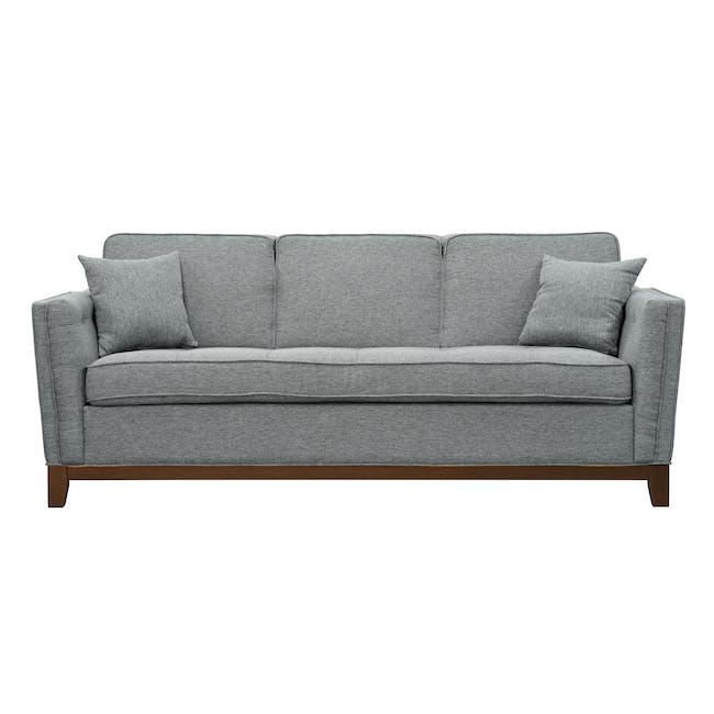 Byron 3 Seater Sofa with Byron Armchair - Siberian Grey - 4