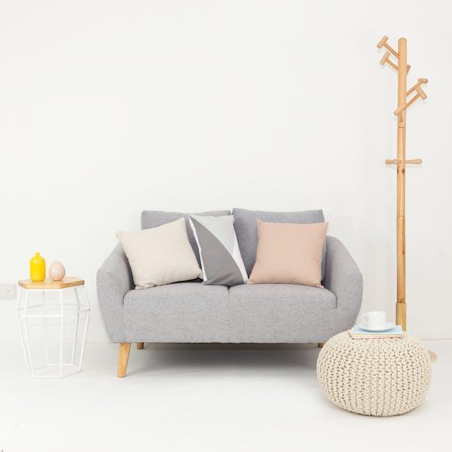 Hana2 Seater Sofa - Light Grey - 2