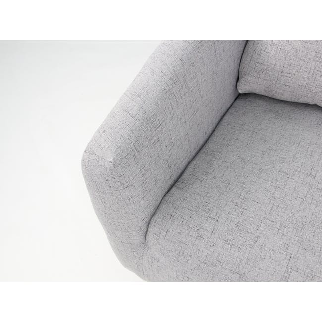 Hana 3 Seater Sofa with Hana 2 Seater Sofa - Light Grey - 7