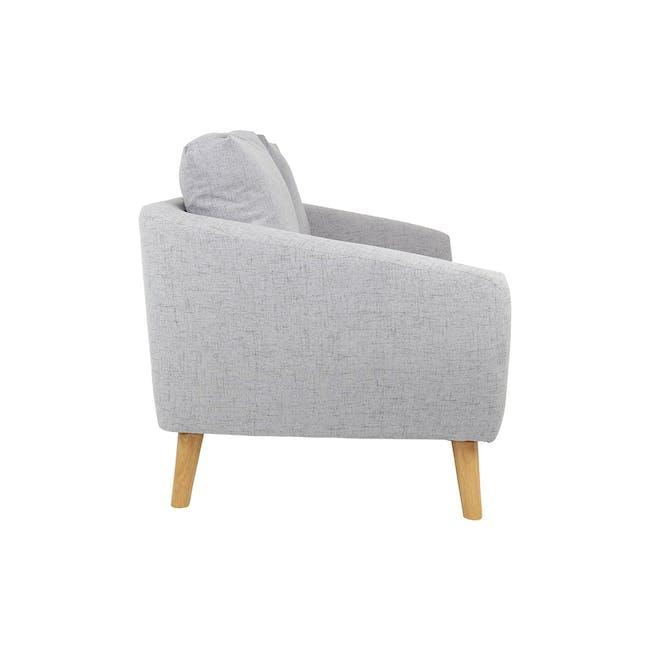 Hana 2 Seater Sofa with Hana Armchair - Light Grey - 15