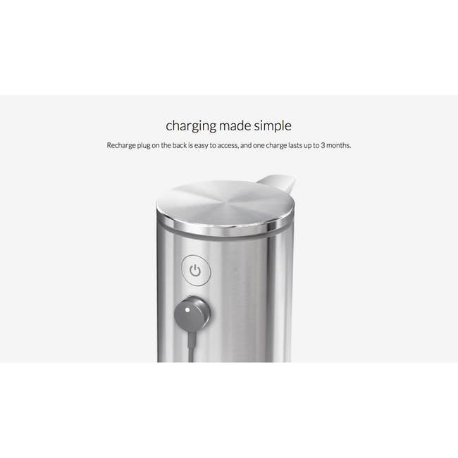 simplehuman Sensor 9oz Soap Pump Rechargeable - Brushed - 5