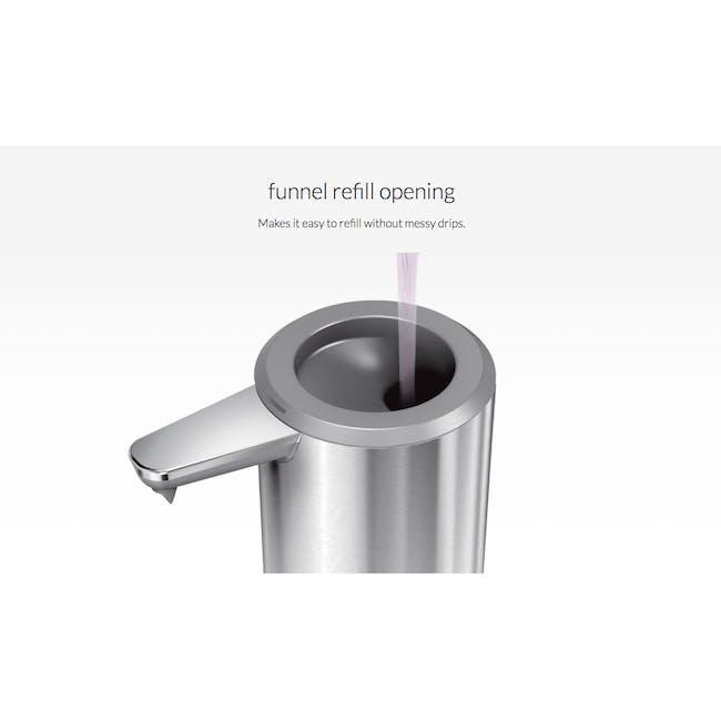 simplehuman Sensor 9oz Soap Pump Rechargeable - Brushed - 6