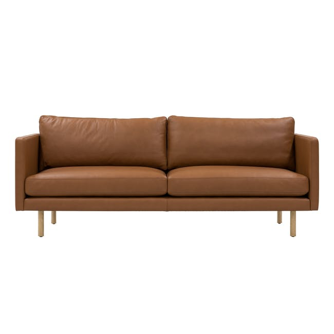 Rexton 3 Seater Sofa - Tawny (Genuine Cowhide), Down Feathers - 0