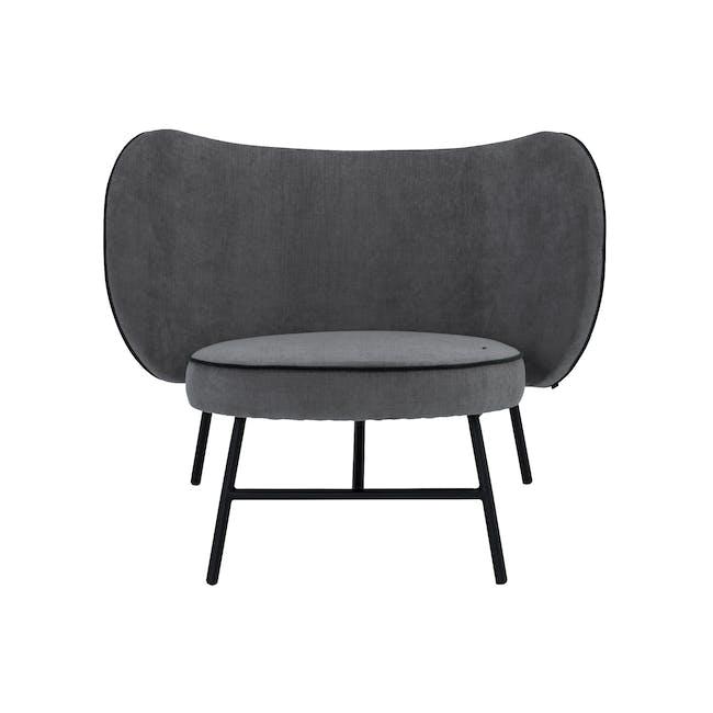 Avenir Lounge Chair - Dark Green, Grey - 0