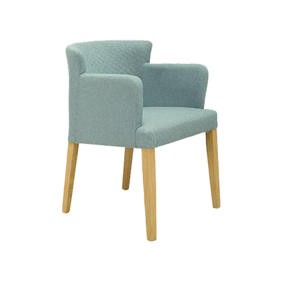 Rhoda Armchair - Natural, Aquamarine - Image 1