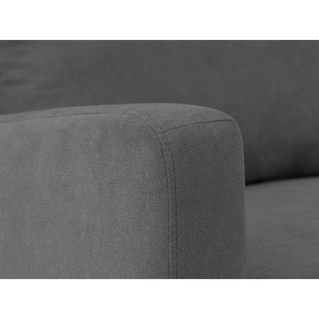 Luke 3 Seater Sofa - Onyx Grey - 6