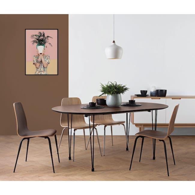 Sefa Dining Chair - Walnut - 1