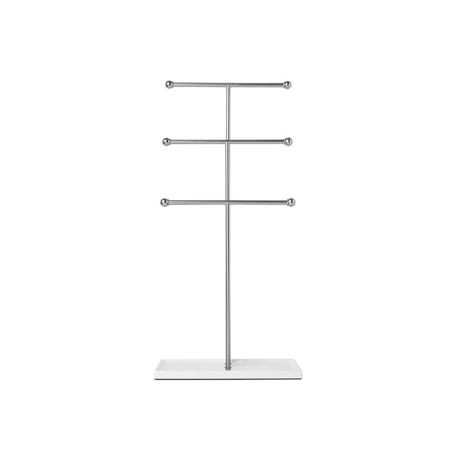 Trigem Jewelry Stand - White, Nickel - 2