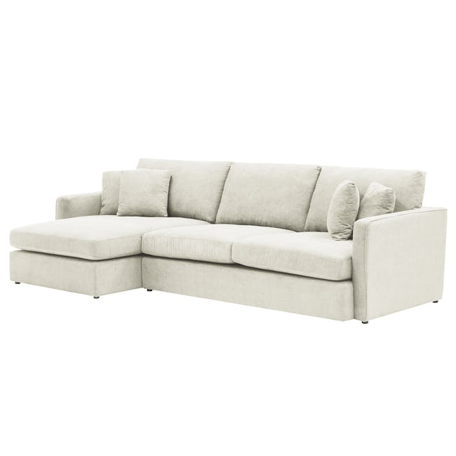 Ashley L-Shaped Lounge Sofa -Pearl - 2
