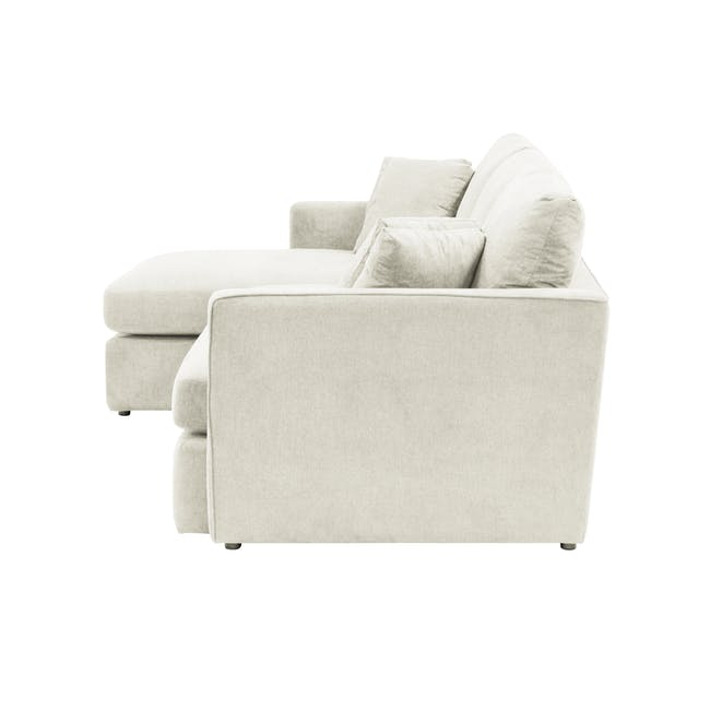 Ashley L-Shaped Lounge Sofa -Pearl - 4