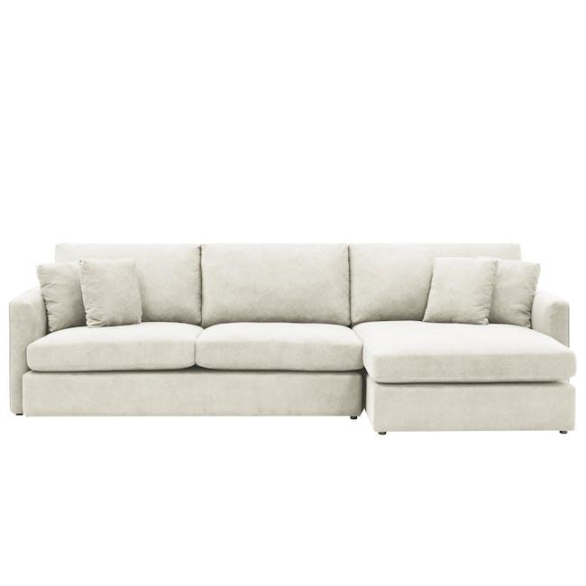 Ashley L-Shaped Lounge Sofa -Pearl - 0