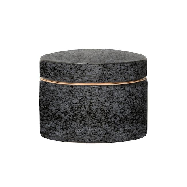 Ronan Jar with Lid - Black (Large) - 0