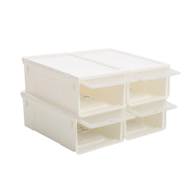 Ladies' Sliding Lid Shoe Box (Pack of 4) - 1