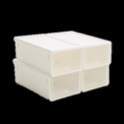 Ladies' Sliding Lid Shoe Box (Pack of 4) - Image 1