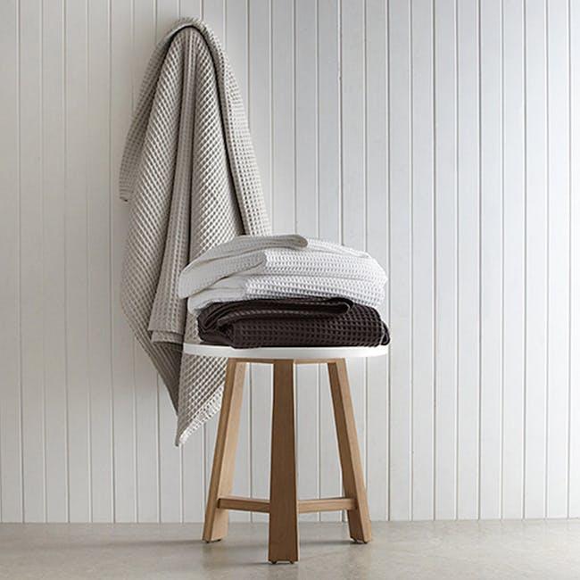 Canningvale Luxury Cotton Waffle Blanket - Piombo Grey (2 Sizes) - 2