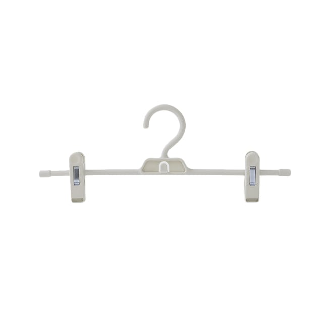 Jacob Hangers with Clips (Set of 5) - Grey - 0