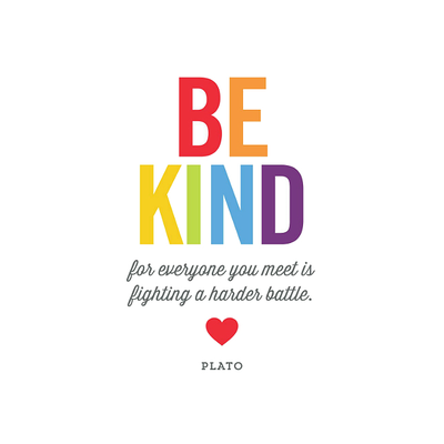 Be Kind Stretched Canvas Art Print