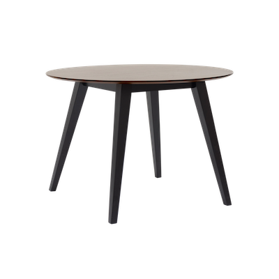 (As-is) Ralph Round Dining Table 1m  - Black, Cocoa -1 - Image 2