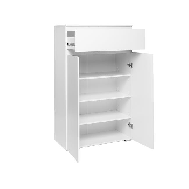 Erika Drawer Shoe Cabinet - White - 1