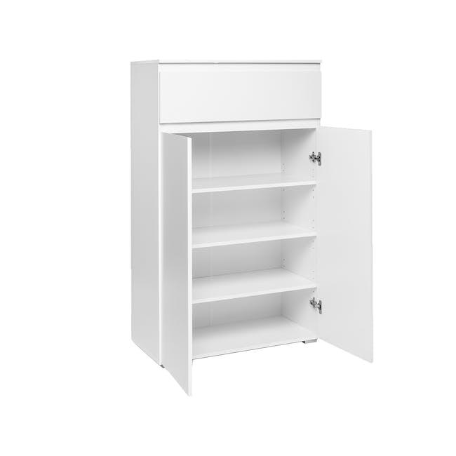 Erika Drawer Shoe Cabinet - White - 3