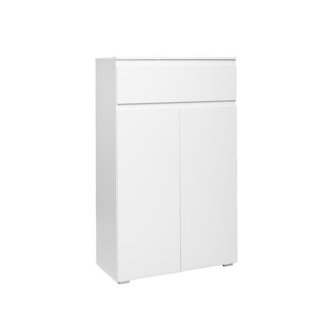 Erika Drawer Shoe Cabinet - White - 5