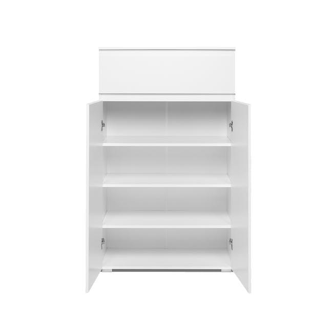Erika Drawer Shoe Cabinet - White - 4
