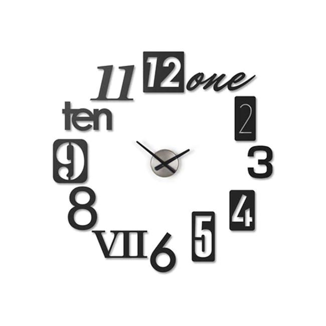 Numbra Wall Clock - Black - 0