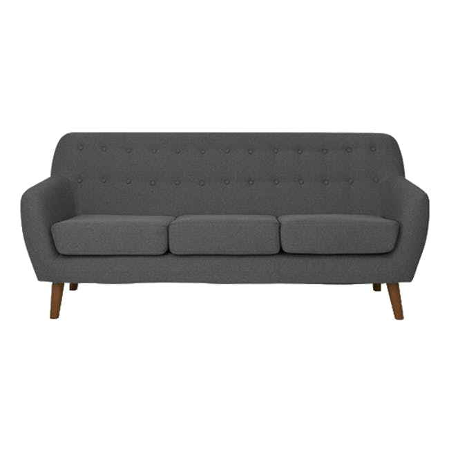 Emma 3 Seater Sofa with Emma Armchair - Raven - 1