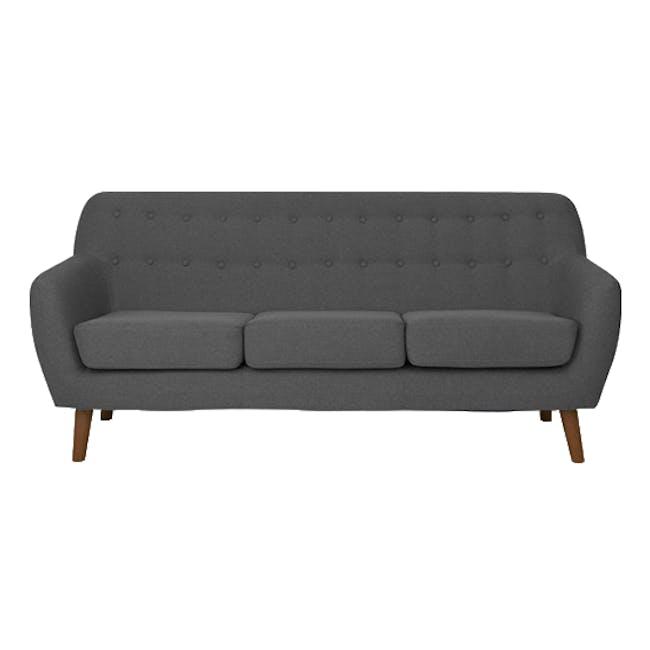 Emma 3 Seater Sofa with Emma 2 Seater Sofa - Raven - 1
