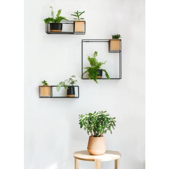 Umbra - Cubist Large Wall Shelf - Natural, Black