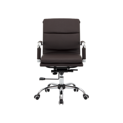 Eames Soft Pad Mid Back Office Chair - Brown (PU) - Image 1