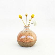 Mini Vase - Dotted Orange
