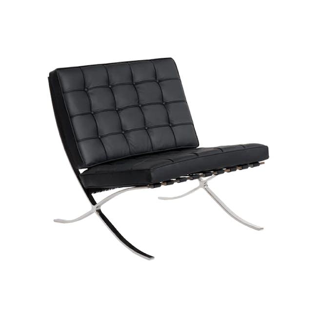 Barcelona Chair with Barcelona Ottoman - Black (Genuine Cowhide) - 7