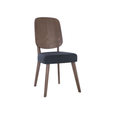 Theodore Dining Chair - Walnut, Dark Grey - Image 1