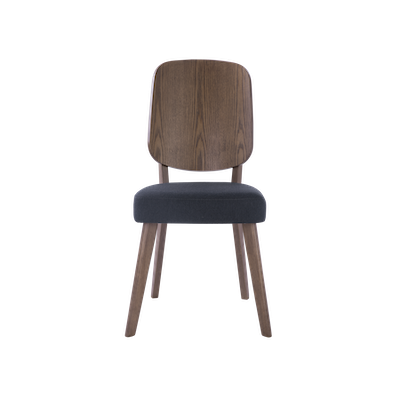 Theodore Dining Chair - Walnut, Dark Grey - Image 2