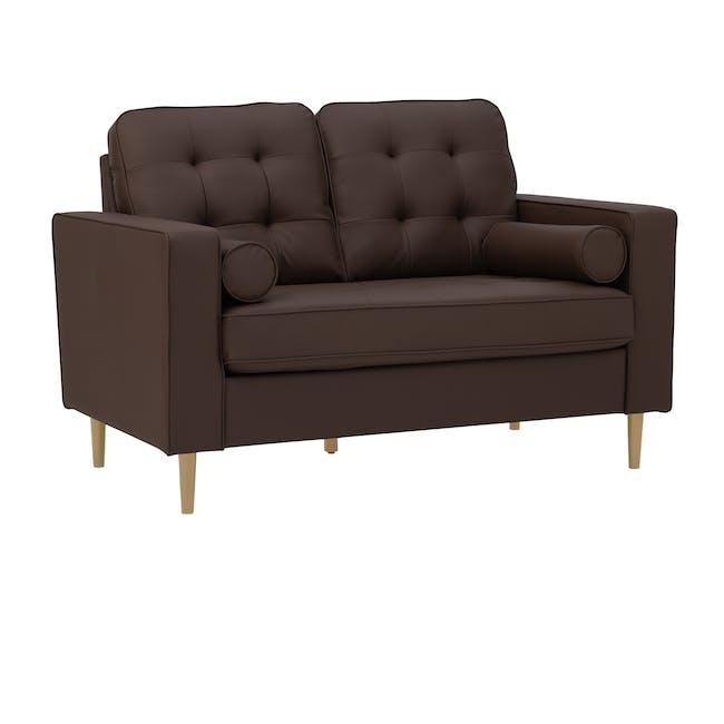 Royce 2 Seater Sofa -  Mocha (Faux Leather) - 1