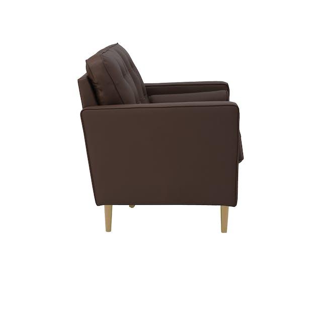 Royce 2 Seater Sofa -  Mocha (Faux Leather) - 2
