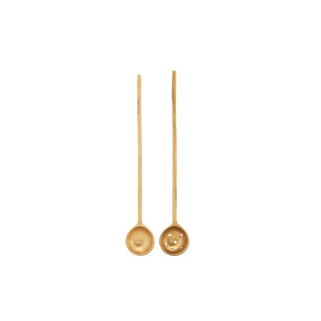 Nicolas Vahe Long Sugar Spoon - Brass (Set of 2) - 0