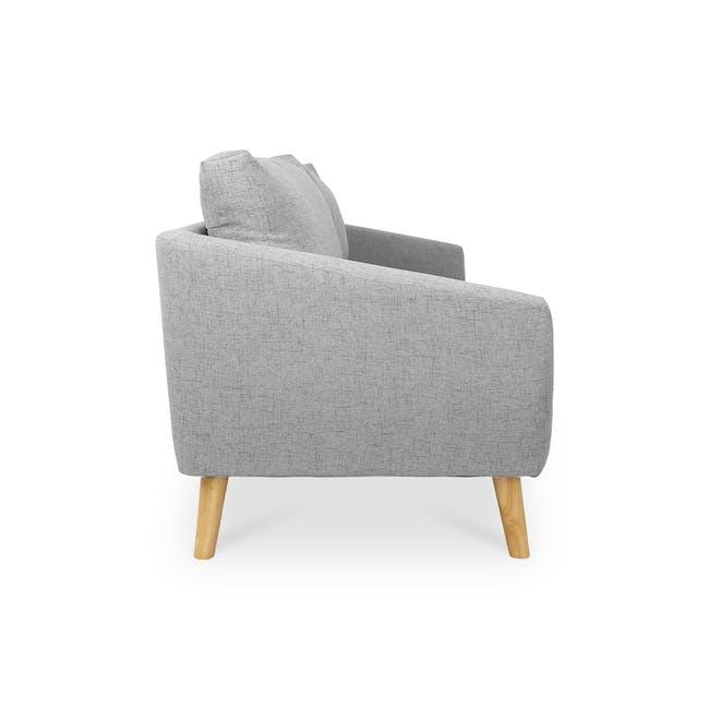 Hana 3 Seater Sofa- Light Grey - 3